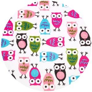Shannon Fabrics, Ann Kelle, Minky, Night Owls Fuchsia