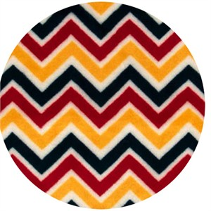 Shannon Fabrics, Cuddle Minky Mini Zig Zag Red/Sunshine