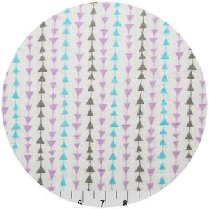 Shannon Fabrics, Embrace, DOUBLE GAUZE, Arrow Lilac/Aruba/Silver