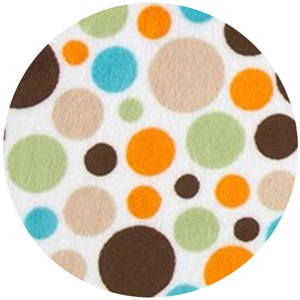 Shannon Fabrics, Minky, Bubble Dot Brown