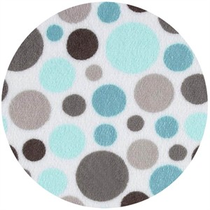 Shannon Fabrics, Cuddle Minky Bubble Dot Topaz