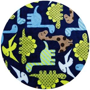 Shannon Fabrics, Ann Kelle, Minky, Dino Midnight