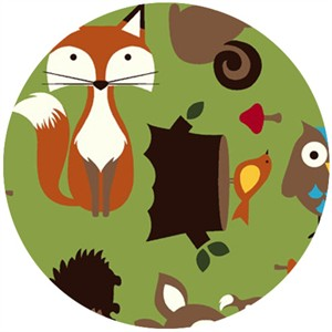 Shannon Fabrics, Minky, Forest Tails Kiwi