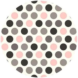 Shannon Fabrics, Minky, Mod Dot Blush/Silver