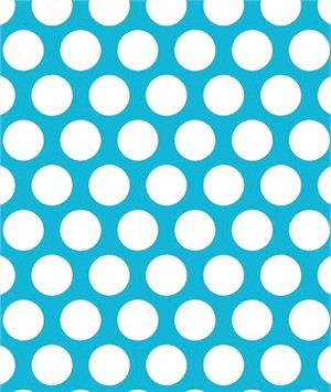 Shannon Fabrics, Minky, Mod Dot Turquoise/Snow