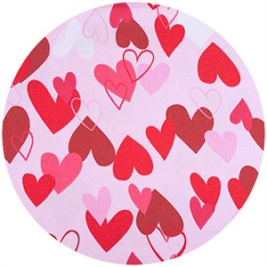 Shannon Fabrics, Silky Satin, Heart 2 Heart Pink/Red