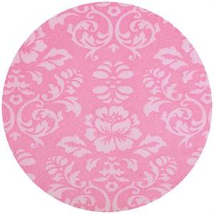 Shannon Fabrics, Silky Satin, Victorian Damask Pink