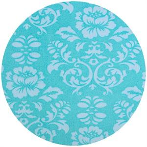 Shannon Fabrics, Silky Satin, Victorian Damask Topaz