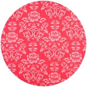 Shannon Fabrics, Silky Satin, Victorian Damask Watermelon
