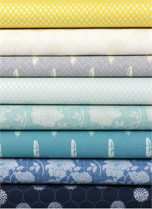 Robert Kaufman, Shimmer 2, Color in FAT QUARTERS 8 Total