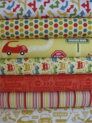 Sheri McCulley Studio, Cruiser Blvd, Yellow in FAT QUARTERS 7 Total