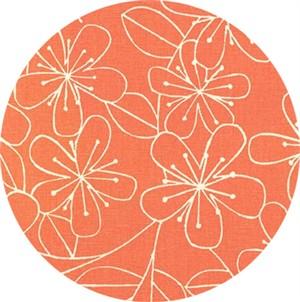 Sevenberry for Robert Kaufman, Cotton/Flax Prints, CANVAS, Simple Flower Melon