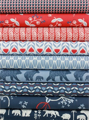 Monaluna, ORGANIC, Simple Life in FAT QUARTERS 9 Total
