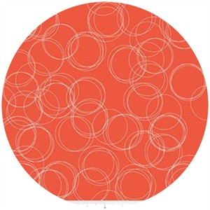 Simple Simon & Company for Riley Blake, Four Corners, Circles Coral