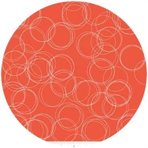 Simple Simon & Company for Riley Blake, Four Corners, Circles Coral
