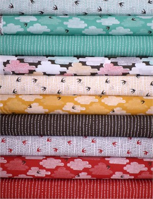 Skinny laMinx, Up Up & Away for Cloud9 Organic, Entire Collection in FAT QUARTERS 10 Total
