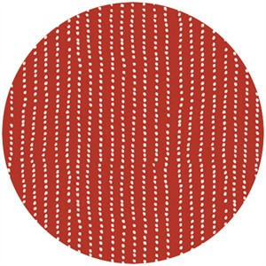 Skinny laMinx, Up Up & Away for Cloud9 Organic, Dots and Stripes Dark Red