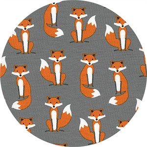 Andie Hanna for Robert Kaufman, Fabulous Foxes, Sly Grey
