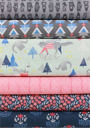 Rae Ritchie for Dear Stella, Snofall in FAT QUARTERS 6 Total