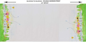 "Sarah Jane for Michael Miller, Sommer, Double Border (24"" panel)"