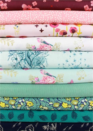 Fabricworm Custom Bundle, Songs of Spring in FAT QUARTERS 10 Total