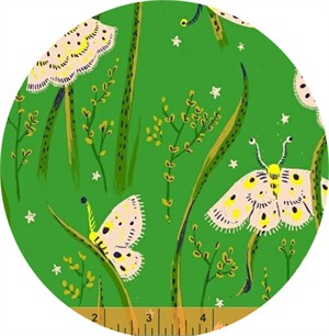 Heather Ross for Windham, Sleeping Porch LAWN, Moths Jade