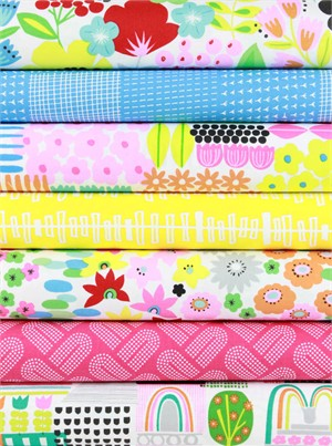 Fabricworm Custom Bundle, Spring Has Sprung in FAT QUARTERS 7 Total (PRE-CUT)