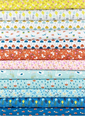 Little Cube for Cloud9, ORGANIC, Spring Walk in FAT QUARTERS 12 Total