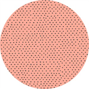 Alicia Jacobs for Ink & Arrow, Square Dot Salmon