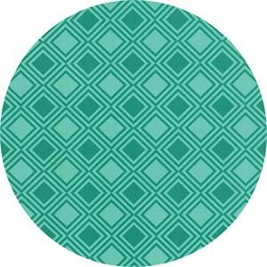 Studio M for Moda, Basic Mixologie Geometrics, Square Gridlock Aqua