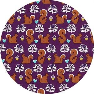 Michael Miller, Fox Woods, Squirrels Purple