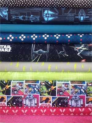 Fabricworm Custom Bundle, Star Wars in FAT QUARTERS 10 Total
