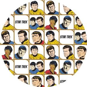 Camelot Fabrics, Star Trek Galaxy Pop, Characters in Blocks White