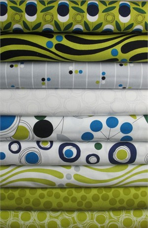 Studio E, Atomic Garden, Olive in FAT QUARTERS 8 Total