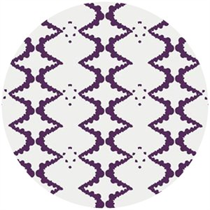 Studio E, Elizabeth, Ink Blot Lattice Purple
