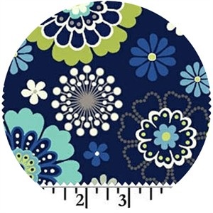 Windham Fabrics, Moonstruck, Bursting Blooms Navy