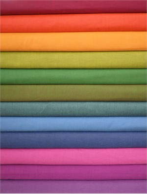 Studio E, Peppered Cotton Solids, Bright in FAT QUARTERS 11 Total