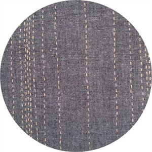 Andover, Chambray Rules, Stitches Metallic Black