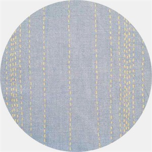 Andover, Chambray Rules, Stitches Metallic Blue