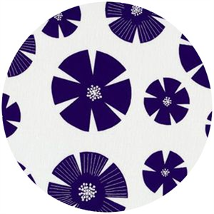 Stof, Pure, Flower Fans Navy/White