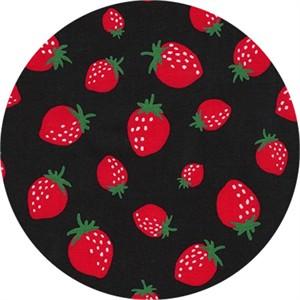 Sevenberry for Robert Kaufman, Mini Prints, Strawberry Black