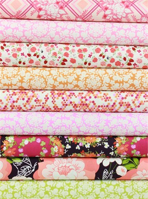 Sandi Henderson for Michael Miller, Strawberry Moon, Peach in FAT QUARTERS 9 Total