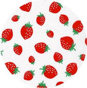 Sevenberry for Robert Kaufman, Mini Prints, Strawberry White