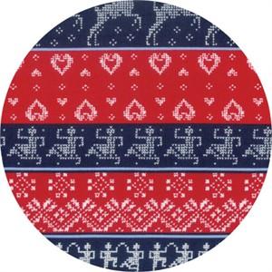 Moda, Nordic Stitches, Stripe Marine