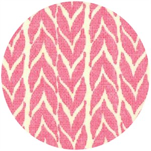 Stephanie Ryan for Moda, Spring House, Herringbone Leaves Raspberry