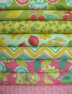 Stephanie Ryan for Moda, Spring House in FAT QUARTERS 8 Total (PRE-CUT)