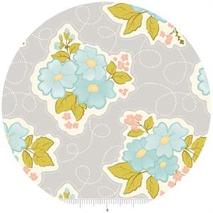 Stitch Studios, Marguerite, Floral Grey