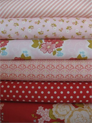 Stitch Studio, Marguerite Pink in FAT QUARTERS 6 Total