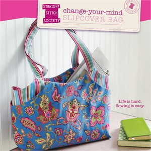 Straight Stitch Society Sewing Pattern, Change Your Mind Slipcover Bag
