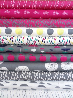 Stof, Uno, Raspberry/Charcoal in FAT QUARTERS 11 Total